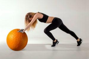 セルライトイメージするオレンジ