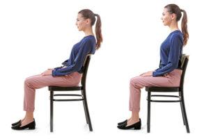 正しい姿勢の例